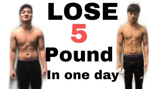HOW I LOST 5 POUNDS IN ONE DAY *****not clickbait*******