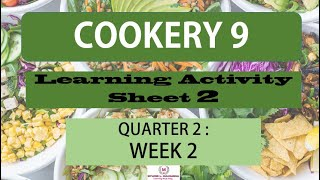 LAS COOKERY 9 QUARTER 2, WEEK 2- MELC - Download the PDF in the description box