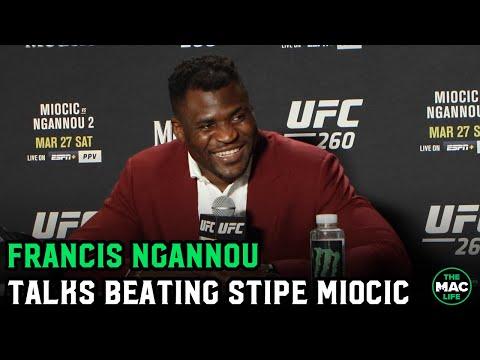"Francis Ngannou talks knockout victory: ""I think Jon Jones makes sense next"" UFC Press Conference"