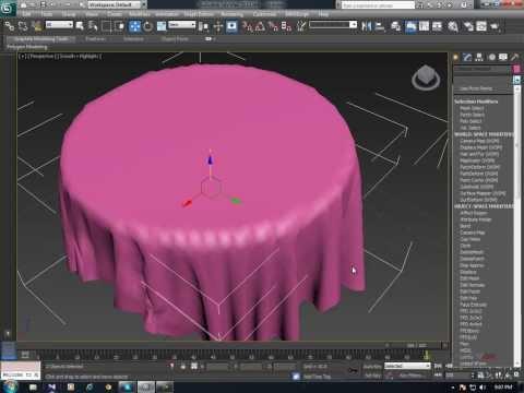 3DS Max – Cloth Simulation basic tutorial