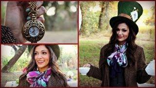 DIY Mad Hatter Halloween Costume & Makeup!