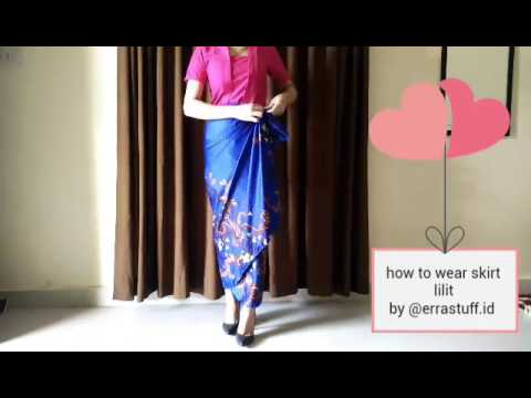 Video How to wear kain lilit instan by @errastuff.id