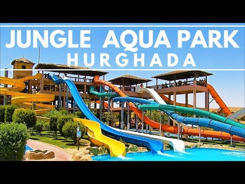 [4K] Walk Around Jungle Aqua Park Hotel - Tour 2018 (July) - Hurghada, Egypt, Ägypten