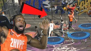 *New* Caged TRAMPOLINE PARK! 2Hype W Troydan! NBA 2K19 Park Mode