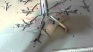 How to build a 1/400 model airport and mat