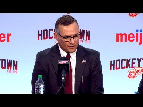 New Detroit Red Wings GM Steve Yzerman speaks at introductory press conference