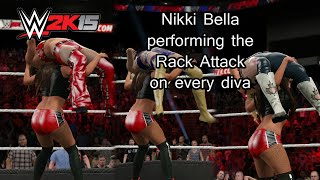 WWE 2K15 (PS4) Nikki Bella performing the Rack Attack on every Diva