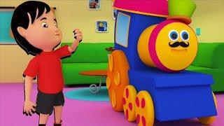บ๊อบรถไฟ จอห์นนี่ จอห์นนี่ ใช่ ปาปา | เด็กคล้องจอง | 3D Kids Songs | Bob Train Johny Johny Yes Papa