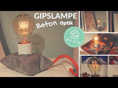 Beton Giessen Diy Anleitung Lampe Aus Beton Betonlampe