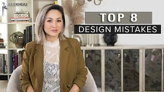 8 COMMON DESIGN MISTAKES | Decorating Mistakes and How to Fix Them | Julie Khuu
