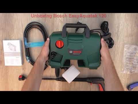Unboxing High-pressure washer BOSCH EasyAquatak 120