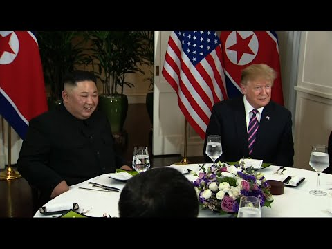 US President Donald Trump and North Korean leader Kim Jong Un on Wednesday sat down for a dinner at the Sofitel Legend Metropole hotel, at the start of their second summit in Hanoi. (Feb. 27)
