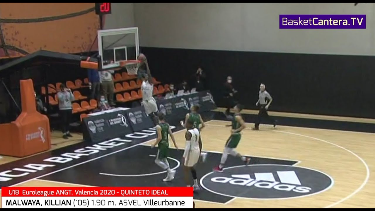 MALWAYA, KILLIAN ('05) 1.90 m. Asvel Villeurbanne. Quinteto Ideal Euroleague AdidasNGT Valencia20/21