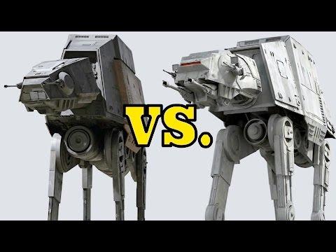 Star Wars AT-AT and AT-ACT differences