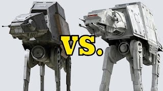 Star Wars AT-AT and AT-ACT differences