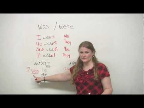 "Basic English Grammar - ""Was"" and ""Were"""