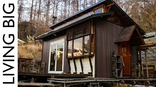 Majestic Off-Grid Cabin In The Japanese Mountains