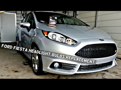 How to Replace Headlight Bulb or Turn Signal on Ford Fiesta 2011 2012 2013 2014 2015 2016