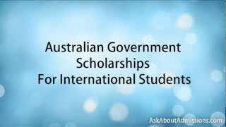 Australian Scholarships for International Students.