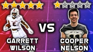 5 Star Recruit vs 1 Star Recruit *WIDE RECEIVER EDITION* | Sharpe Sports