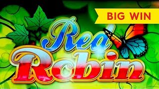 SO CLOSE! Red Robin Slot   BIG WIN RETRIGGER!