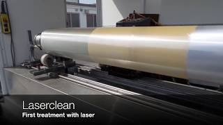Roller Cleaned with Laser