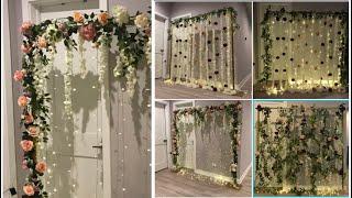 DIY- Hanging Flower Backdrop Diy- 3 Simple Backdrops Diy- Wedding Decor