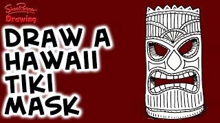 How To Draw A Hawaiian Tiki Mask