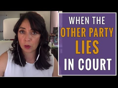 When One Party in a Custody Battle LIES in Court