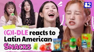 (G)I-DLE Reviews Latin American SnacksㅣKpop Idol Reviews Latin American Snacks