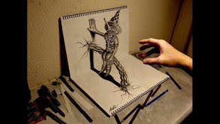 Amazing 3D Art on sketchbook【15】