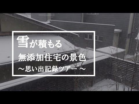 【思い出記録】雪が積もる景色が見える無添加住宅の暮らし/オノブンの家/雪景色