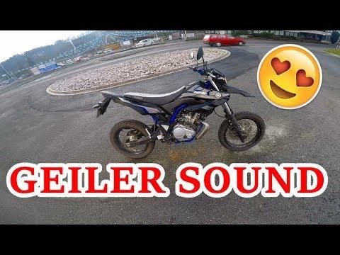 Yamaha WR 125 Probefahrt | Takkoni Auspuff ohne Db-Killer