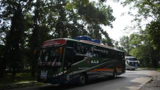 Konvoi bus Jambore Nasional Bismania Community 2016 part 4 | Klakson dan telolet