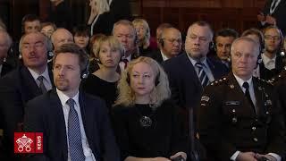 Papa Francesco Lettonia incontro autorità 2018-09-24