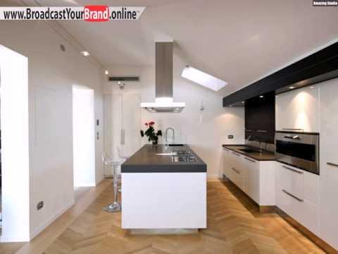 Queen Küche Design Weiße Hochglanz Fronten Graue Arbeitsplatte