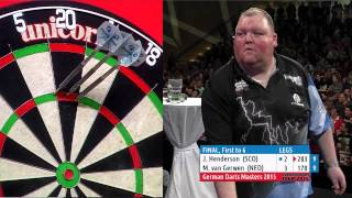 2015 German Darts Masters Final | Michael van Gerwen v John Henderson (HD)