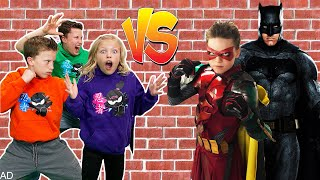 Ninja Kidz team up with Robin to Save Batman from The Joker!