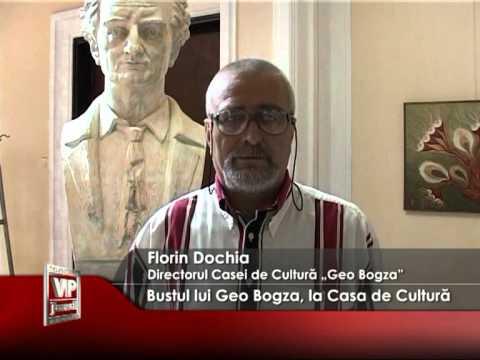 Bustul lui Geo Bogza, la Casa de Cultură