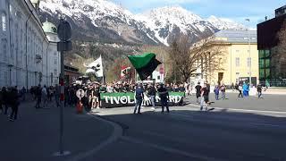 Wacker Innsbruck Fanmarsch: Wacker Gegen Rapid 06.04.2019