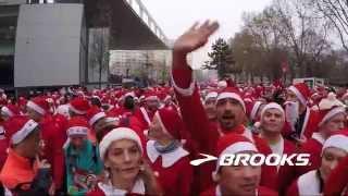 preview picture of video 'corrida pères noël brooks 2014 issy les moulineaux'