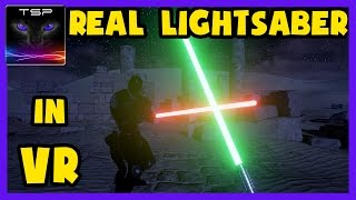 Legend level Jedi Lightsaber training & Duel in Virtual Reality with HTC Vive