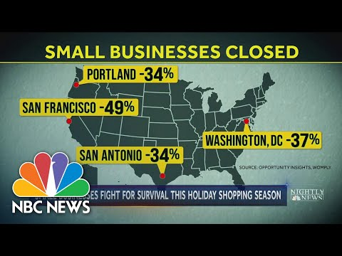 Small Businesses Fight for Survival In Tough Covid-19 Year | NBC Nightly News
