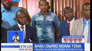 Babu Owino atiwa mbaroni tena baada ya kuachiliwa kwa dhamana ya Sh500,000