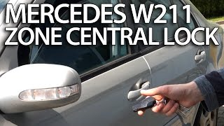 How to activate zone central lock in Mercedes-Benz W211 (E-class safety features)