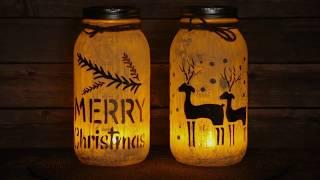 DIY Mason Jar Candle Holders