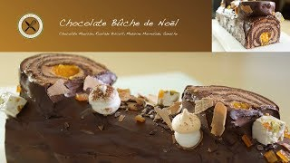 Chocolate (Jaffa) Yule Log – Bruno Albouze – THE REAL DEAL
