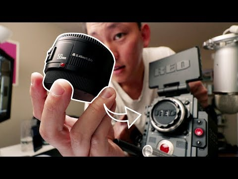$48 Lens on a RED Cinema Camera | Yongnuo 50mm f1.8 Lens