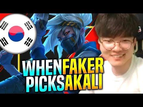 When Faker Plays Akali! - SKT T1 Faker Plays Akali vs Ryze Mid! | SKT T1 Faker KR SoloQ Patch 9.22