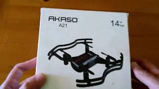 AKASO A21 Mini Quadcopter Drone Camera Live Video Review, Great Beginnger Quadcopter